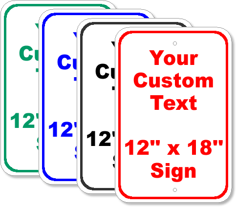 CustomSignCUS12X18RA5Group