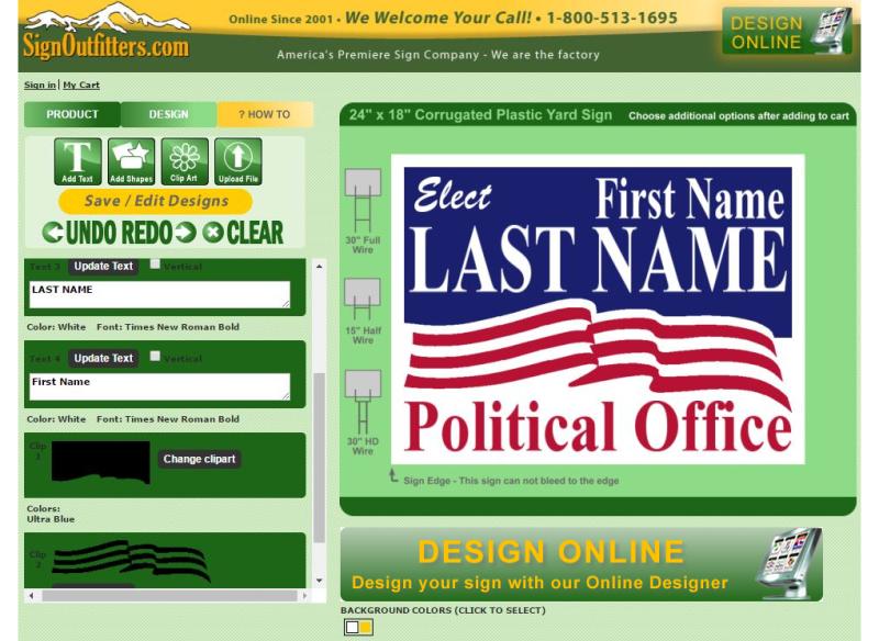 Design Online Yard Signs Online